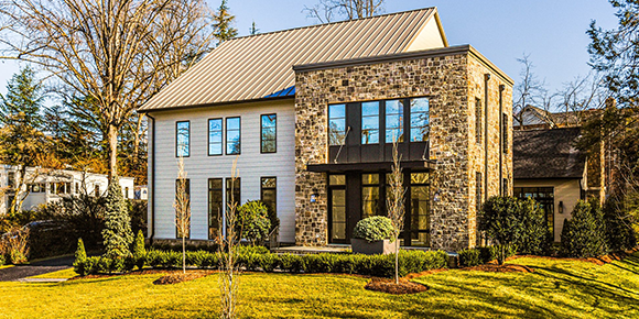 Modern Farmhouse and Industrial Brick Come Together at 1137 Basil Road
