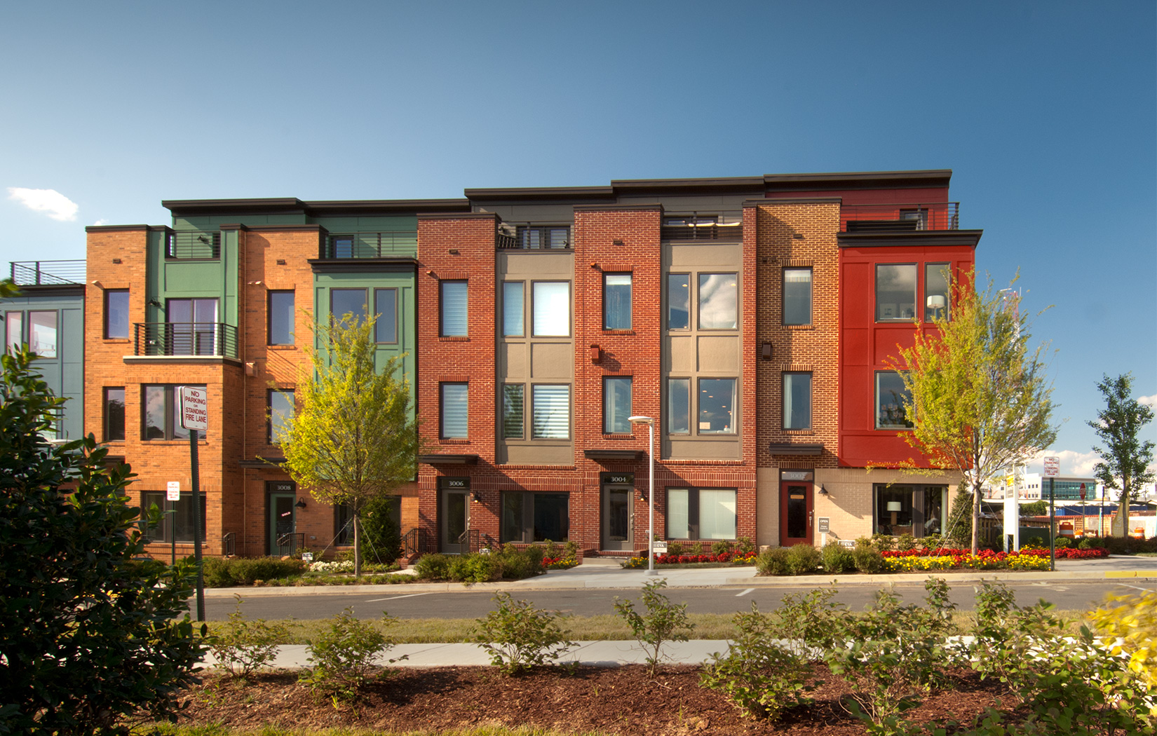 Lessard Design Mosaic District Townhomes